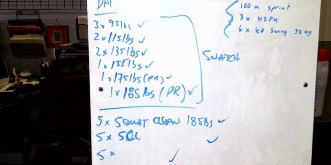 Darren Clarke and Dai Manuel's workout from December 18 2010