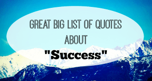 Great Big List of Success Quotes