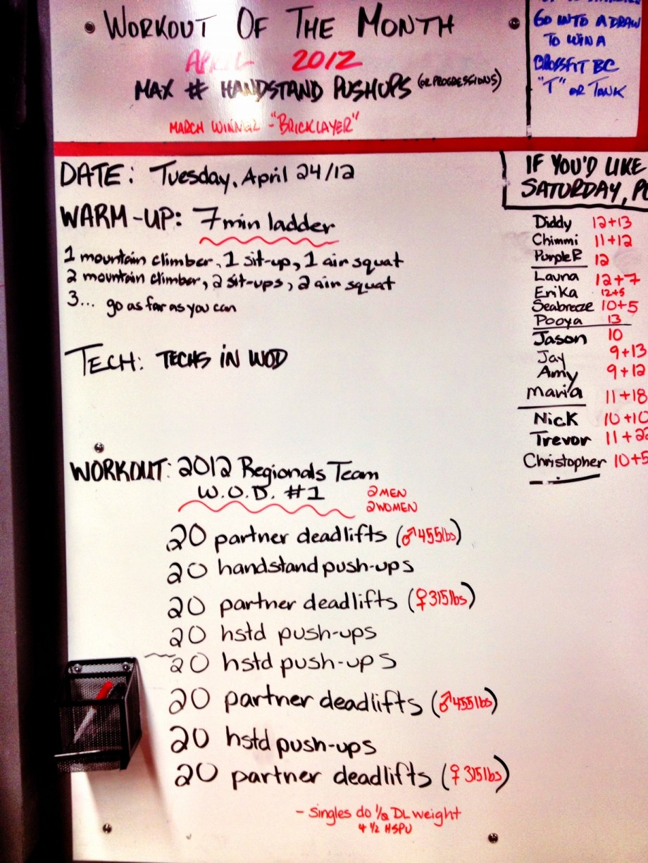 2017 Crossfit Regional Team Workout 1 See Link For Explanation