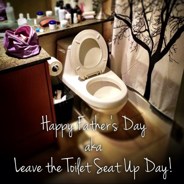 "Father's Day (or in my home, ""Leave the Toilet Seat Up Day"")"