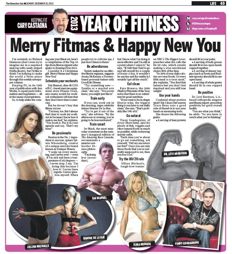Keeping Fit Article by Cary Castagna: Merry Fitmas & Happy New You