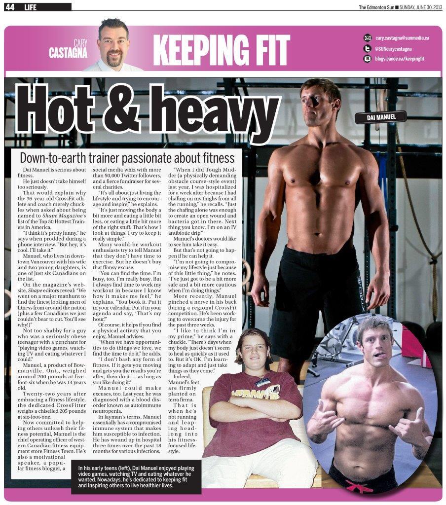 Edmonton Sun Feature, June 30, 2013