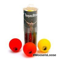 Mild to Moderate: I love this pack as it has 3 different balls, all of different densities. Mild to spicy! Travel Roller 3 variable density acupressure balls. Hard, medium, soft densities allows users to duplicate the precise work of therapists/massage.