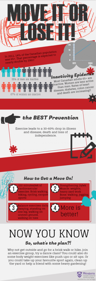 Move it or lose It inforgraphic - Inactivity Epidemic