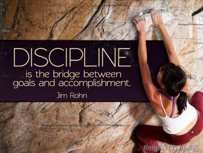 Jim Rohn quote about discipline
