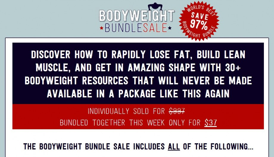 Get the Ultimate Bodyweight Bundle for only $37