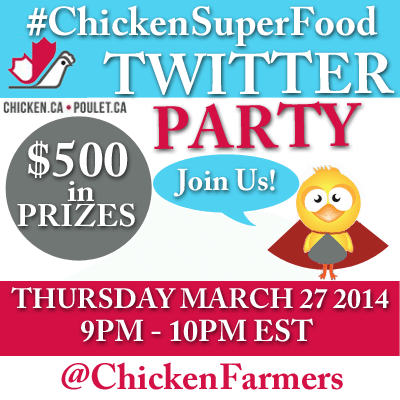 #ChickenSuperFood Twitter Party March 27 2014 with @chickenfarmers
