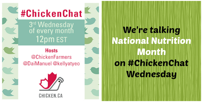 We're talking National Nutrition Month on #ChickenChat Wednesday