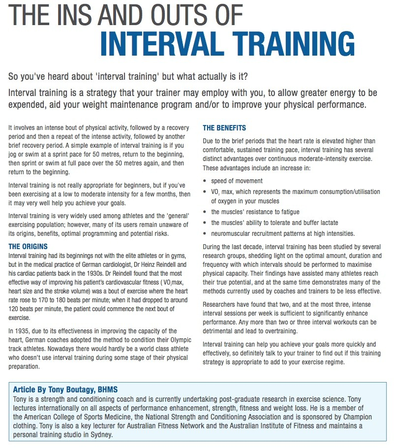 The ins and outs of interval training: what is it?