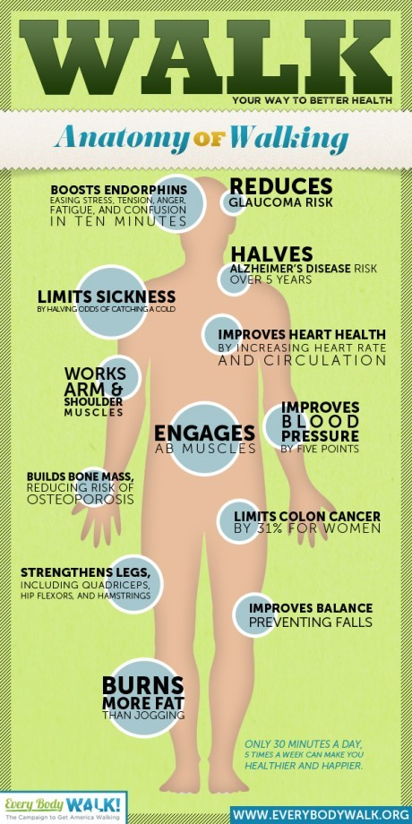 The Benefits of Walking - Infographic