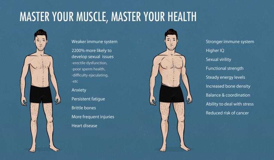 mens body weight chart