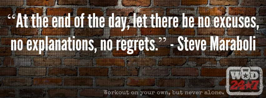 #WOD247, WOD 24/7, No Regrets, workout on your own, but never alone