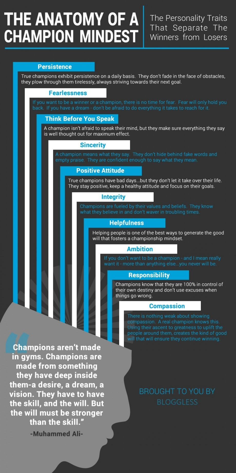 Click on image to see full size version of the Anatomy of the Champion Mindset [image care of Blogless.com]