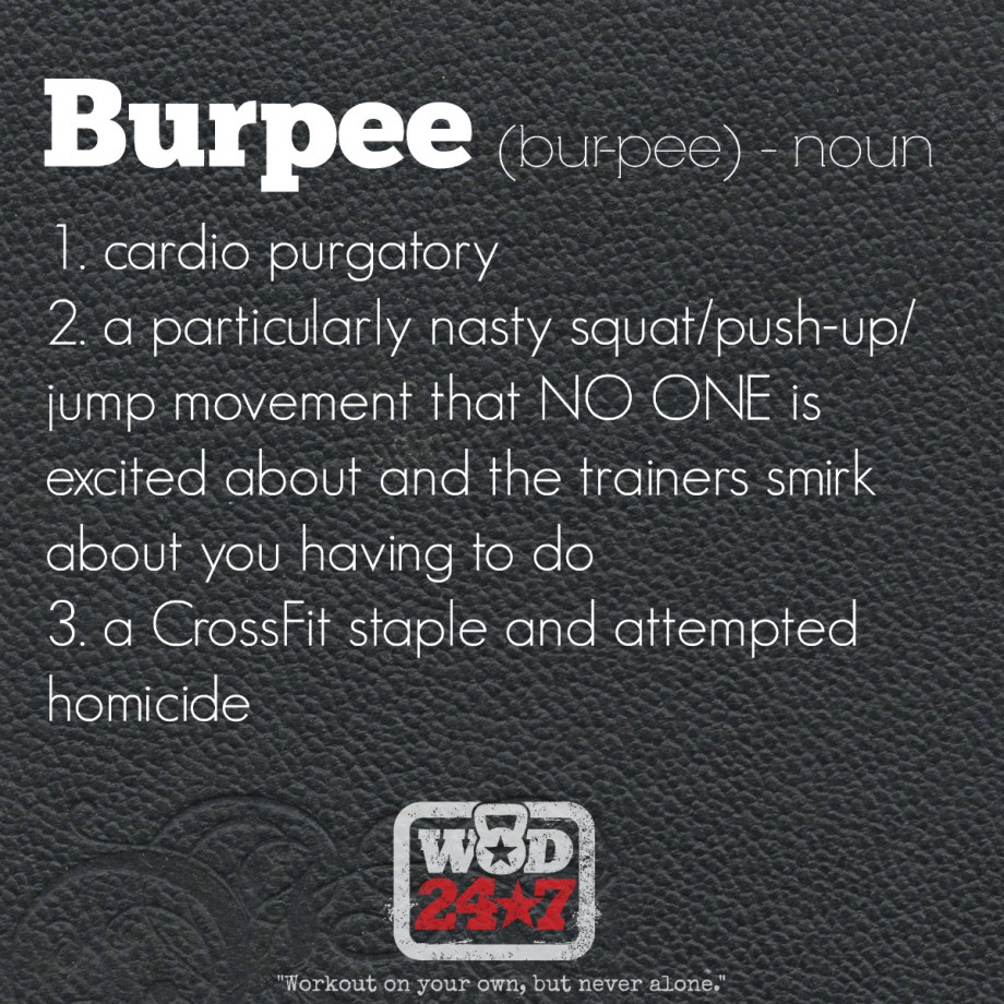 The Definition of a burpee