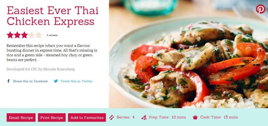 Easiest Ever Thai Chicken Express