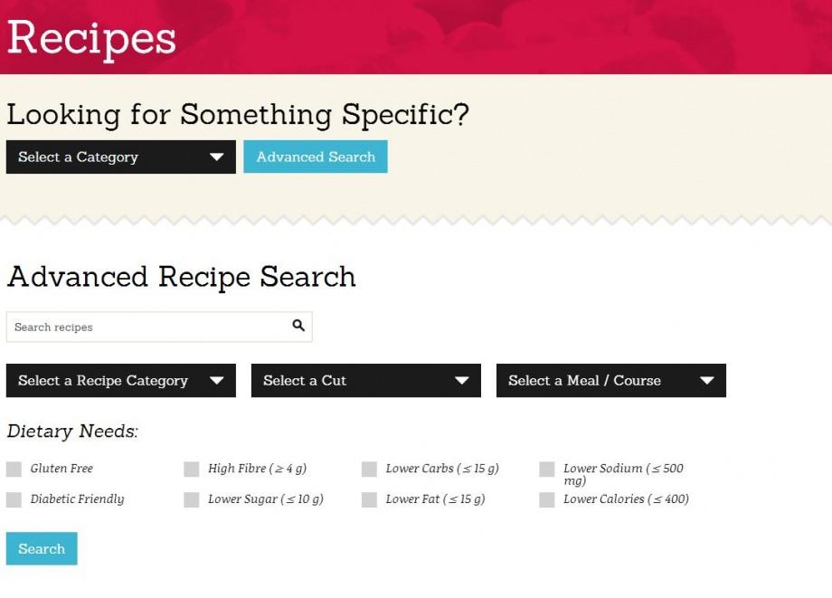 The Chicken.ca Recipe Finder