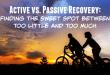 active vs passive recovery