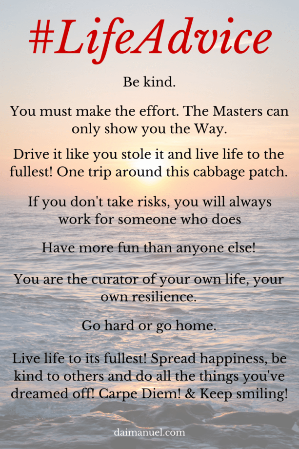 Charmant Elizabeth K. #LifeAdvice From DaiManuel.com