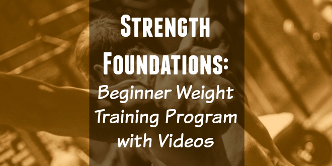 Click here to see instructional videos for each of the exercises contained within this workout plan.