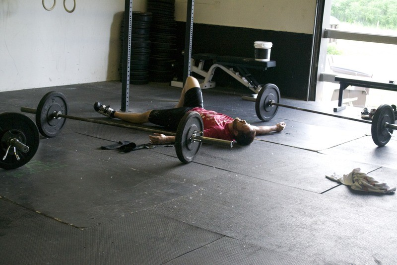 Post WOD exhaustion.... photo care of CrossFit Revelation
