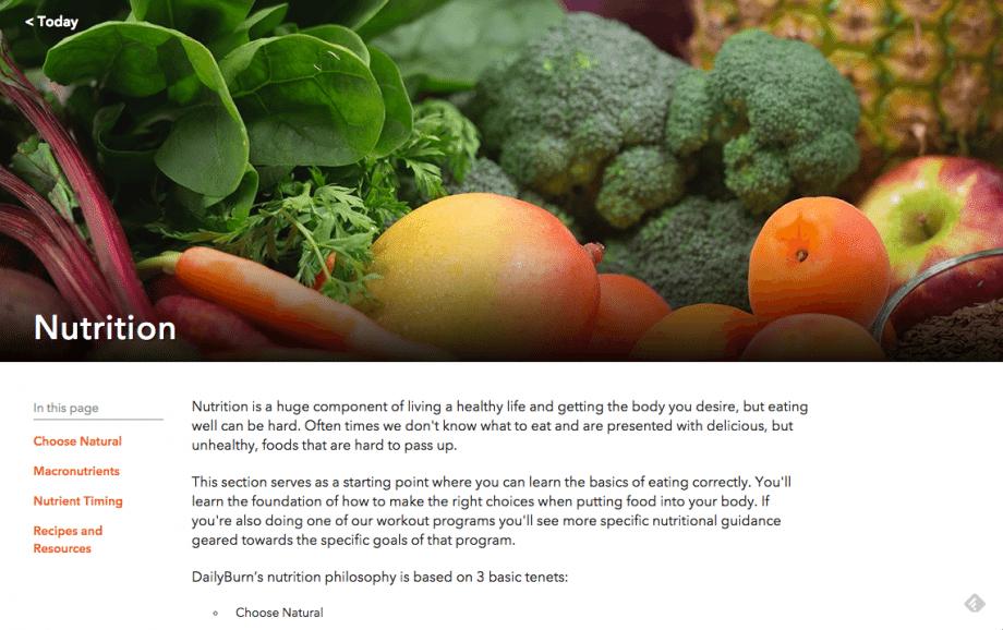 DailyBurn Nutrition