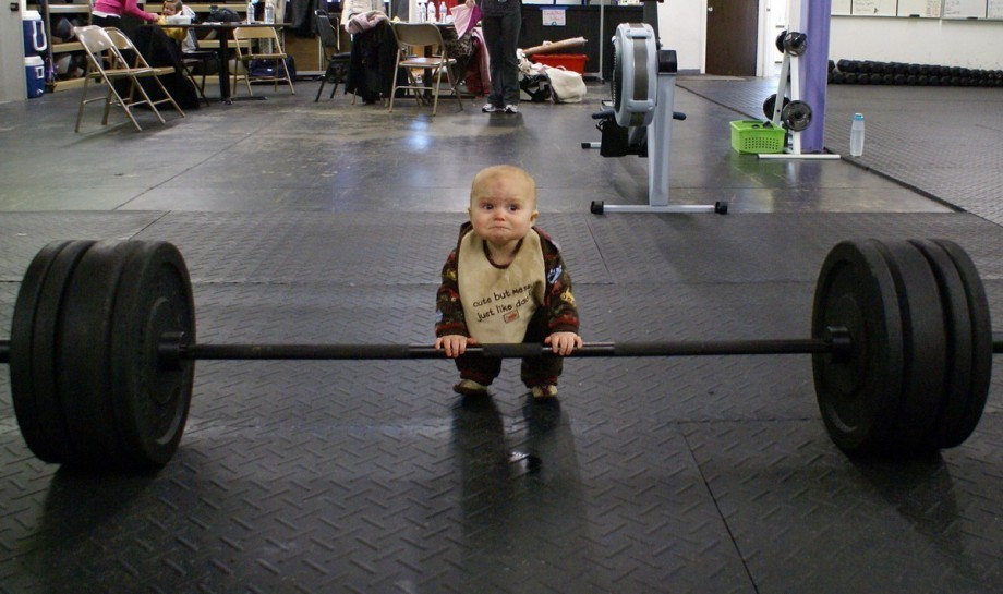 Baby Lifting - light weight baby!