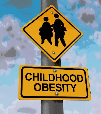 Childhood Obesity Sign CrossWalk