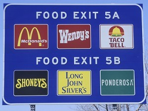 Convenience Stores Road Sign
