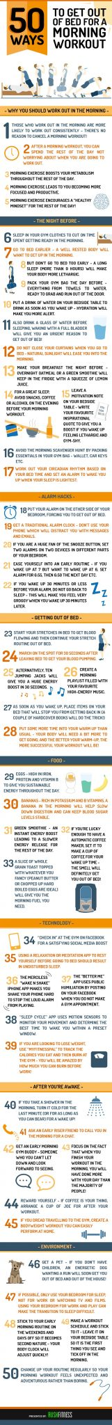 Rush Fitness - 50 ways - infographic