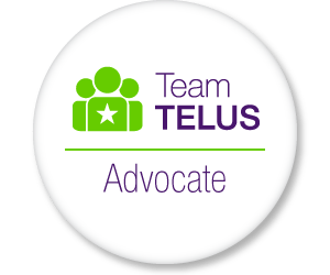 I'm part of #TeamTELUS