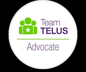 I'm part of #TeamTELUS