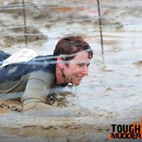 Pam getting down and dirty at Tough Mudder