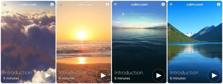 CALM app scenes... Photo credit: La Vida Bonita by Mikaela Duhs.