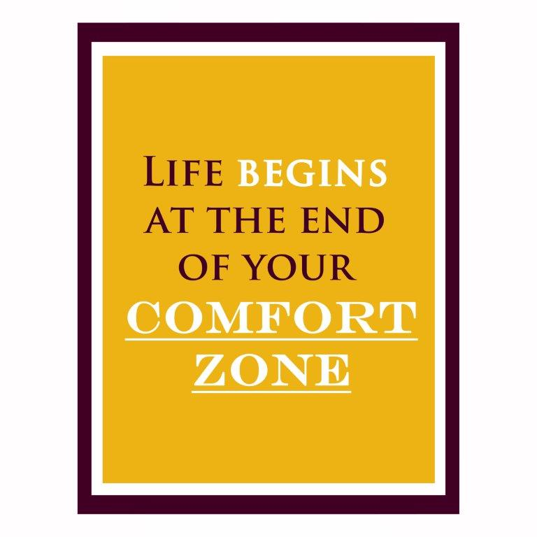 life begins at the end of your comfort zone #taketheleap