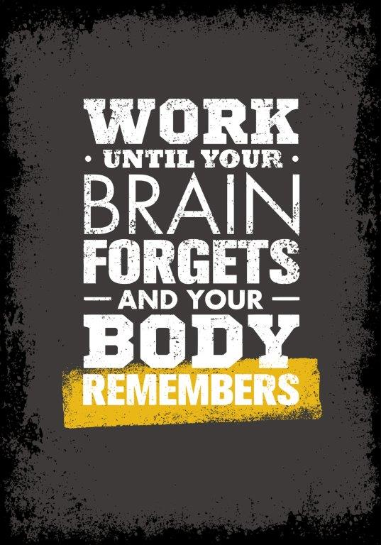Work until the brain knows what to do