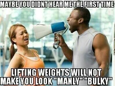 women bulky from weights