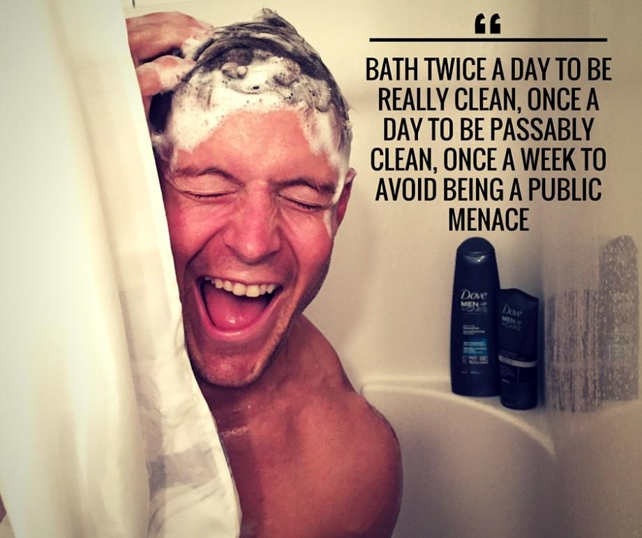 Bath Twice a day - Dove Men+Care - Dai Manuel