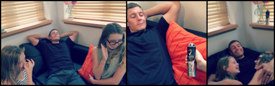 Getting post workout cuddles with my girls got a little easier... #DegreeMen #RealStrength