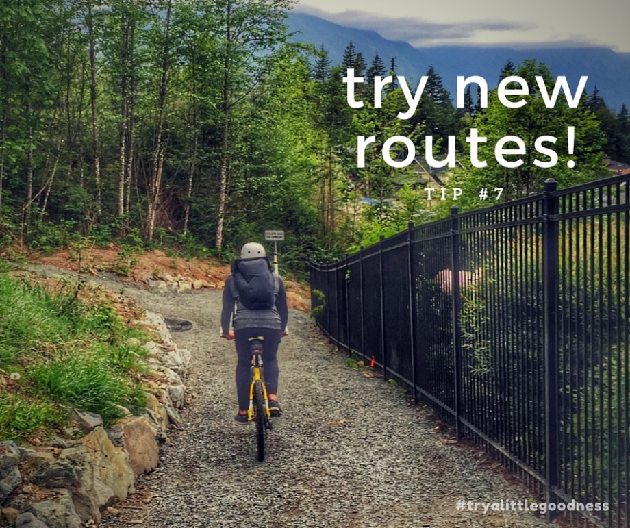 tip 7 try new routes - tryalittlegoodness - goodnessknows