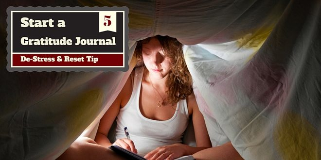 destress tip - start a journal