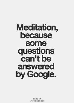 meditation vs google