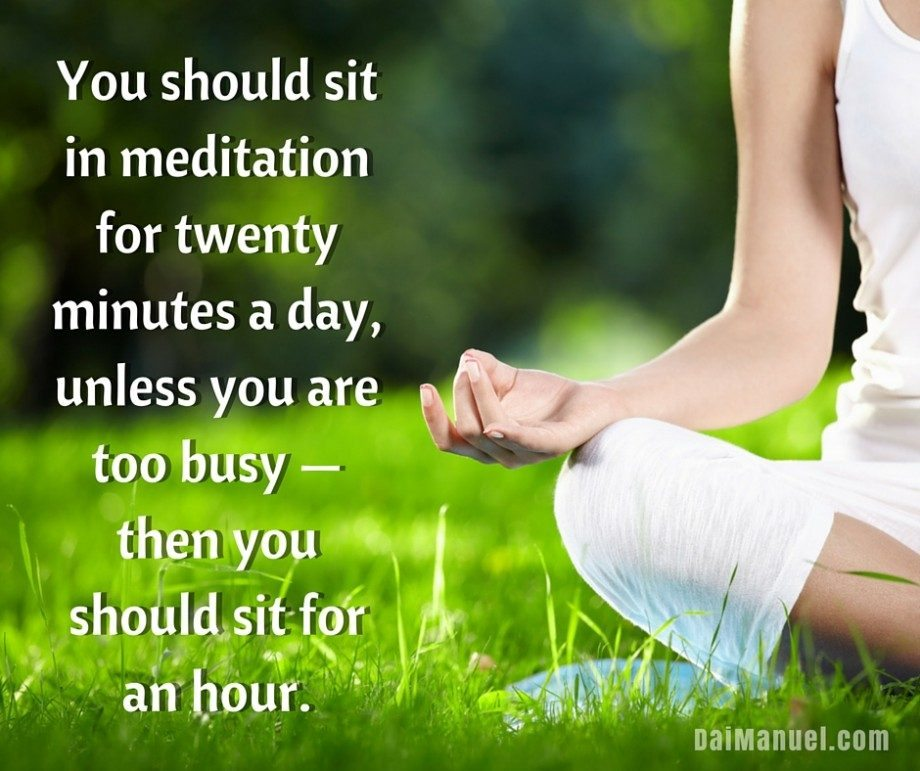 you know you have to meditate when