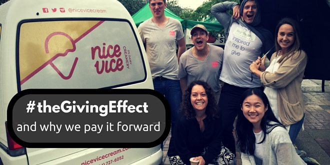 Why we need a pay it forward culture through #theGivingEffect