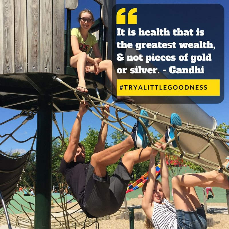 health is the greatest wealth - family fitness quote