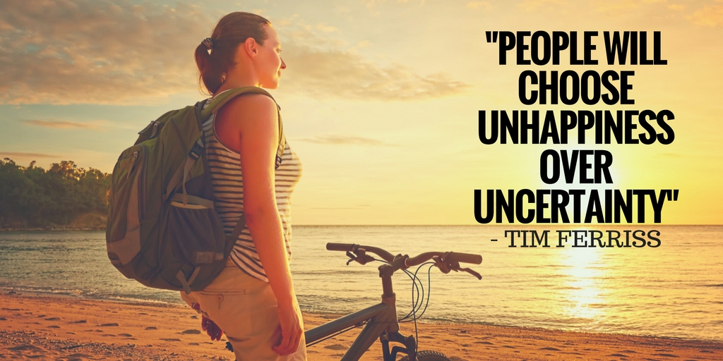 People will choose unhappiness over uncertainty