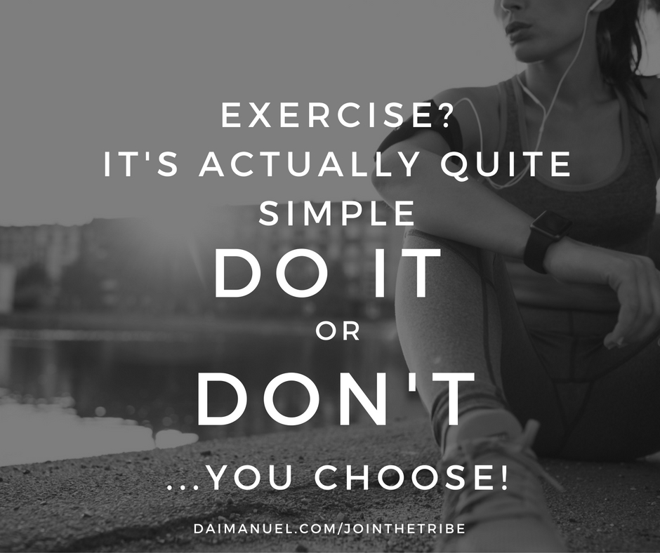 exercise is simple just choose