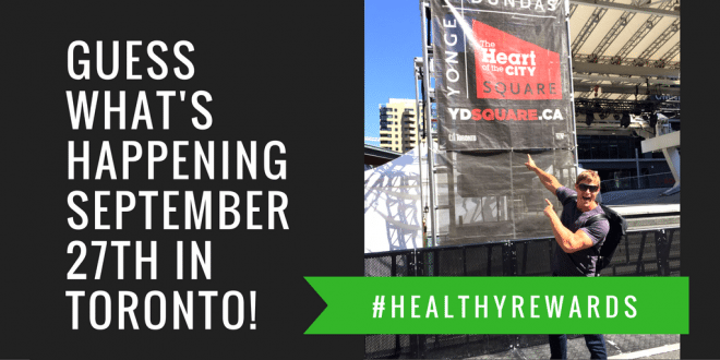 Join me on September 27 in Toronto for #HealthyRewards