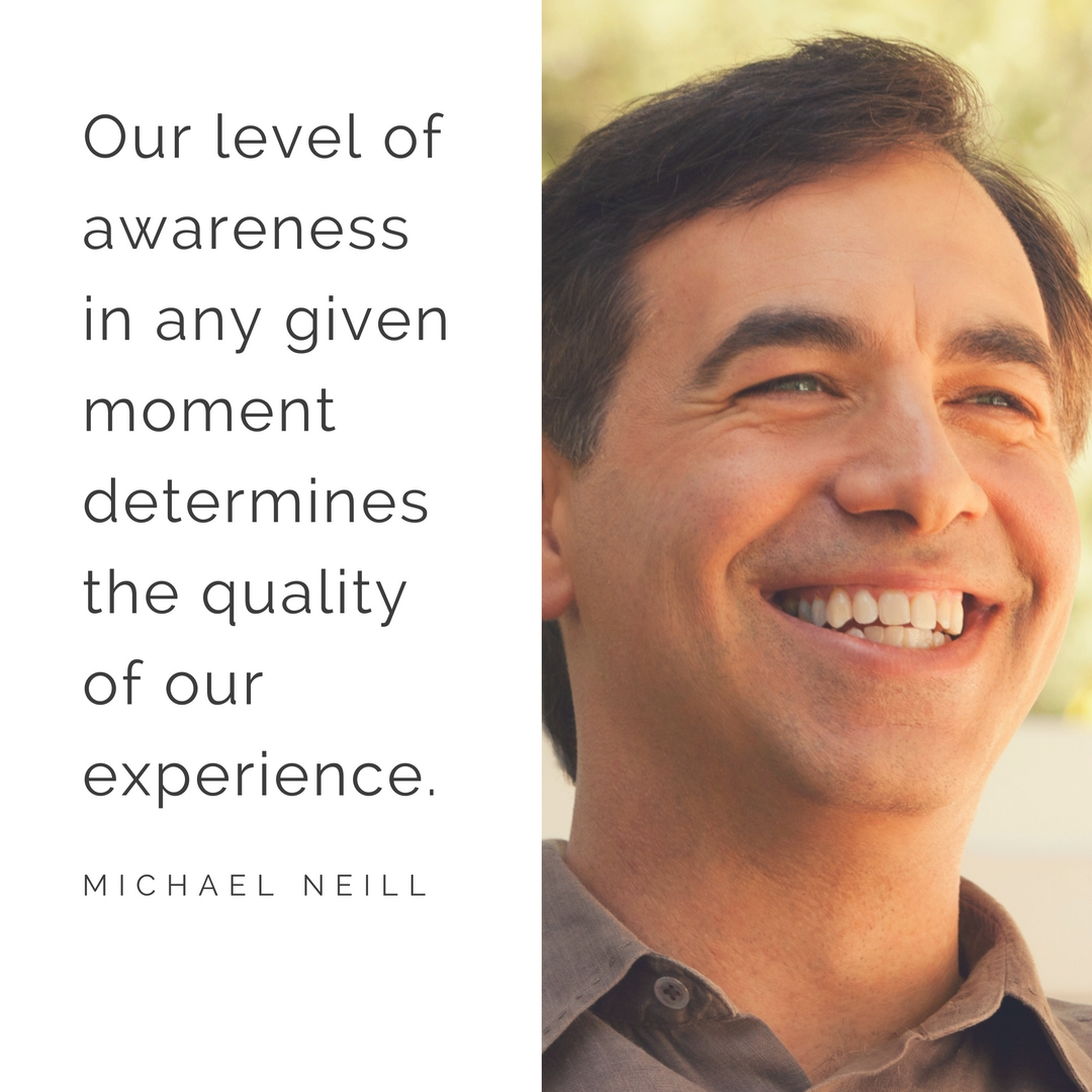 Our level of awareness in any given moment determines the quality of our experience. – Michael Neill