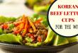 korean beef lettuce cup recipe beef advantage