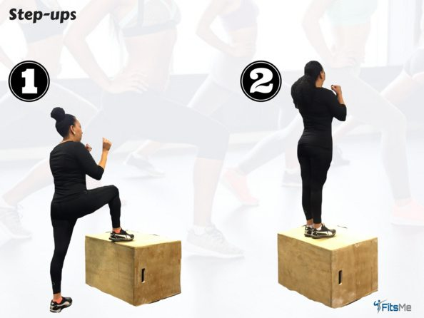 How to do step ups - the booty workout